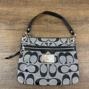 COACH Poppy Signature Sateen Moonlight Satchel 200